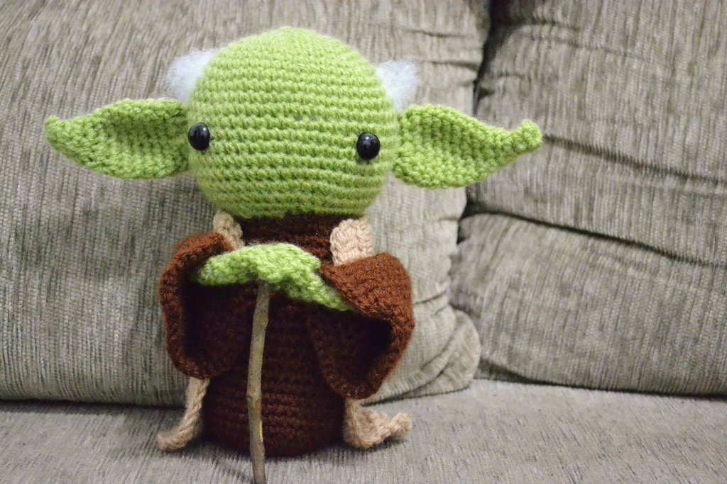 Amigurumi Yoda Free Crochet Patterns - DIY Magazine | 683x1024
