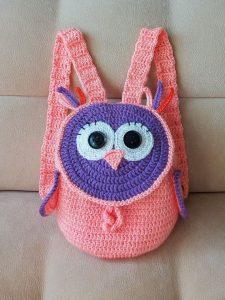 Crochet Mini Backpack For Dolls | Crochet bookmark pattern ... | 300x225